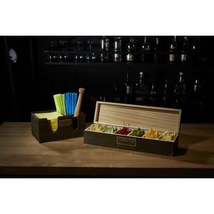 Cocktail Condiment Caddy And Napkin Dispenser