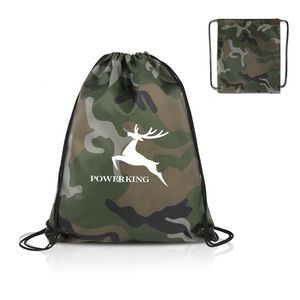 Camouflage Design Drawstring Bag